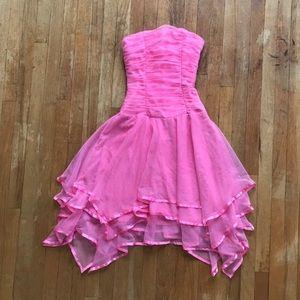 Blondie Nites Linda Bernell Pink Strapless Dress